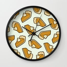 Pumpkin Pie Pattern Wall Clock