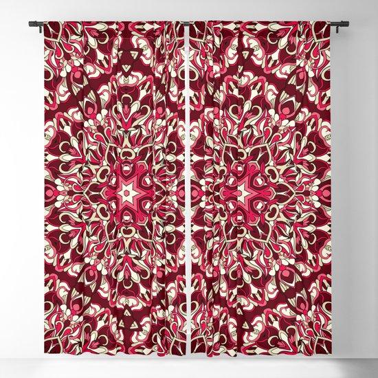 Red geometric Mandala Rich Ornament by maria_so