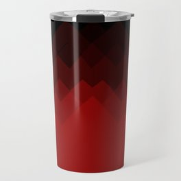 Dragon Ombre Scales Pattern (Red) Travel Mug