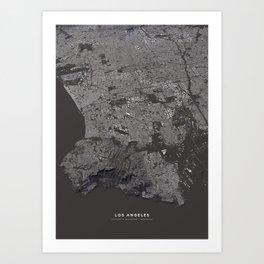 Los Angeles - city map Art Print