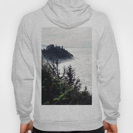 Waves Crashing on the Oregon Coast - 120 mm Film Photograph Hoody