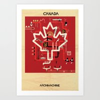 canada Art Prints featuring Canada by federico babina