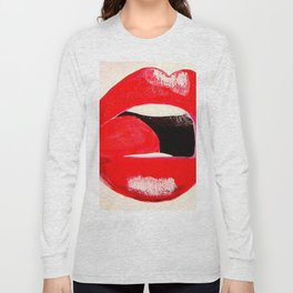 Red Lips #society6 #decor #buyart Long Sleeve T-shirt