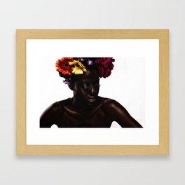 Floral Afro Framed Art Print