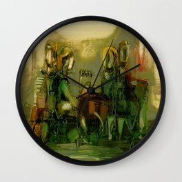The Bremen Town Musicians, Abstract oil Painting Wall Clock