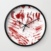 cooking Wall Clocks featuring Love cooking by Poizon Poizon