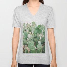 Cactus Flowers Pink And Green Desert Life Unisex V-Neck