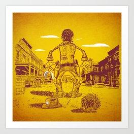 The Last Showdown - The good guy Art Print
