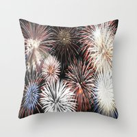 fireworks Throw Pillows featuring Fireworks by Urlaub Photography