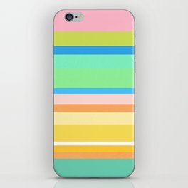 Springtime Stripes iPhone Skin