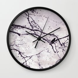 Winter Crow Wall Clock