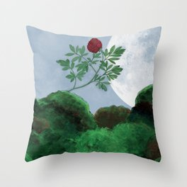 By the Light of the Moon Throw Pillow