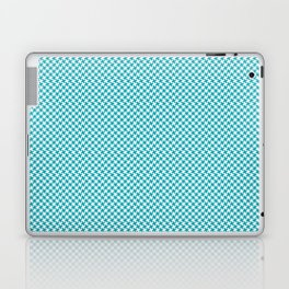 Houndstooth White & Teal small Laptop & iPad Skin