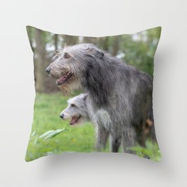Wolfhounds big meek gray giants Throw Pillow