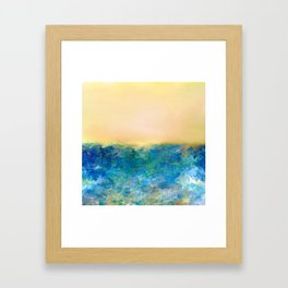 Sun Setting Framed Art Print