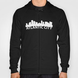 Curved Skyline Of Atlantic City NJ Hoody