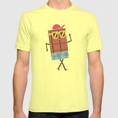 Beach Bod Lemon LARGE Mens Fitted Tee