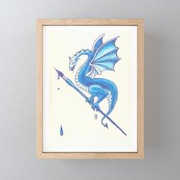 Blue Dragon Art Warrior Framed Mini Art Print