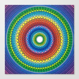 Happy Rainbow Mandala Canvas Print