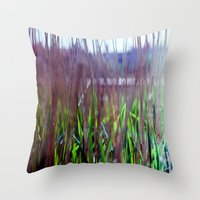 weed Throw Pillows featuring weed by jmdphoto