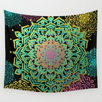 boho Wall Tapestries featuring Boho Medallions by Lisa Argyropoulos