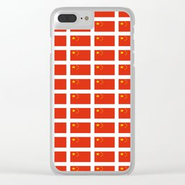 flag of china -中国,chinese,han,柑,Shanghai,Beijing,confucius,I Ching,taoism. Clear iPhone Case