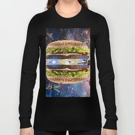 Hamburguesa luna estelar Long Sleeve T-shirt