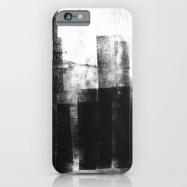 Black White Grey Abstract Monotype iPhone Case