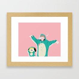 Dinosaur Chimmy (Pink Ver.) Framed Art Print