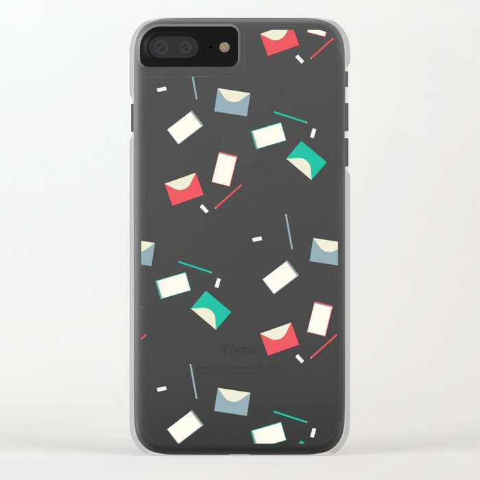 Stationery pattern Clear iPhone Case