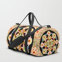 Pastel Carousel Black Circle Duffle Bag
