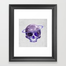 Cosmic Skull Framed Art Print