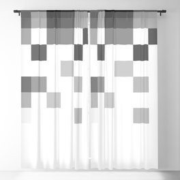 Gray Scale In Pixels Blackout Curtain