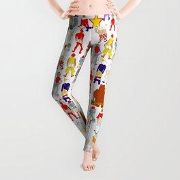 Fast Food Butts Pattern Leggings