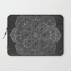 Wood Mandala - Silver Laptop Sleeve