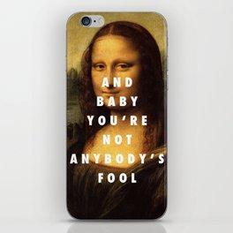 Mona Lisa Baby iPhone Skin
