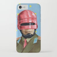 robocop iPhone & iPod Cases featuring Pink Robocop by FAMOUS WHEN DEAD