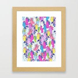 g1 my little pony sea pony collage Framed Art Print