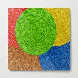 Twirling Colors Metal Print
