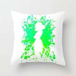 Anime Hero Paint Splatter Inspired Shirt Throw Pillow