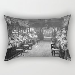 1919 Harrods Department Store, London, England Perfume Counter Vintage black and white photograph / art photography Rectangular Pillow
