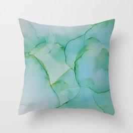 Mint Smoke Throw Pillow