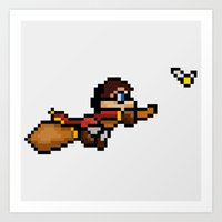 quidditch Art Prints featuring Quidditch by Yildiray Atas