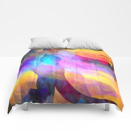 Colourful abstract with leaf shapes Comforters