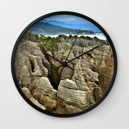 Pancake Rocks Wall Clock