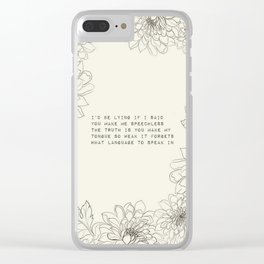 I'd be lying - R. Kaur Collection Clear iPhone Case