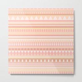 Peach Pattern Metal Print