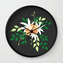 Lily Bouquet Wall Clock