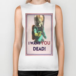 Mars Attacks Want YOU Biker Tank