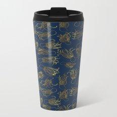 Gold Squid (Indigo) Metal Travel Mug